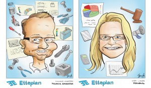 Caricatures for Etteplan Västerås